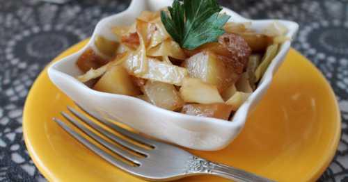 Рецепты рагу с картошкой и капустой  мультиварке,
