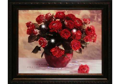 Картины из роз в подарок