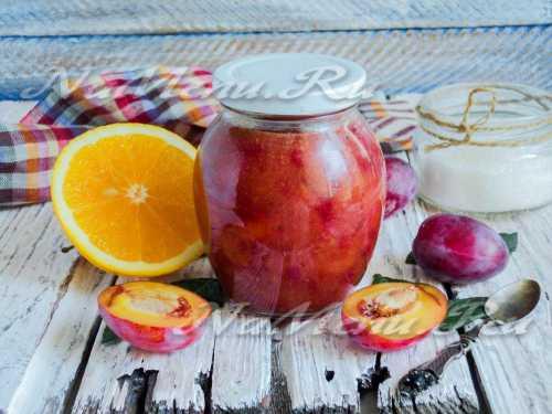 Рецепты варенья из слив с апельсином на зиму,