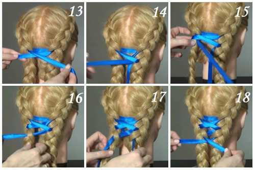 Как вплести в косу ленту
