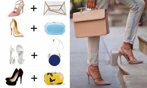 Как сочетать обувь с сумкой: модные советы
