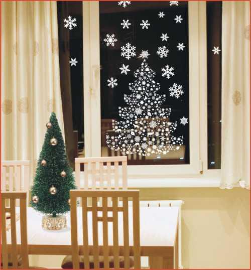 Как украсить окно на Новый год 2017: оригинальные идеи с фото