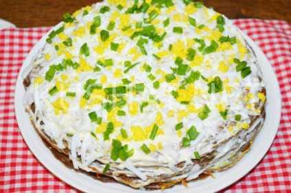 Печеночный торт: рецепт с куриной печенью