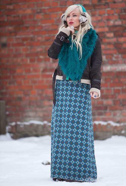 Длинные юбки и платья макси зимой: не холодно ли быть женственной