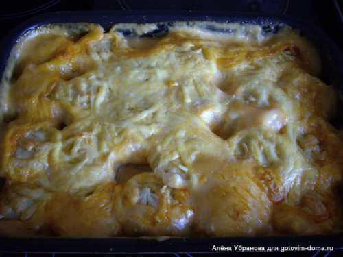 Рецепты пельменей в духовке с сыром,  майонезом и