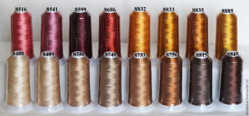 Хорошие нитки для машинной вышивки