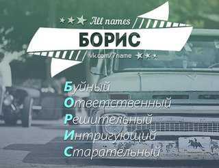 Борис: значение имени Борис,  история имени,