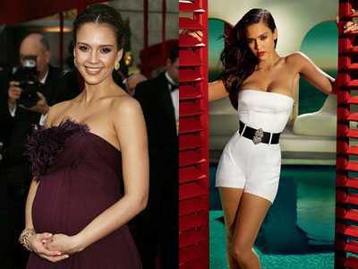10 самых горячих голливудских мам во время и после беременности