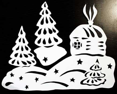 Новогодние украшения на окна