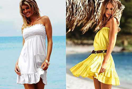 Как сшить пляжное платье самим быстро и просто Часть 3