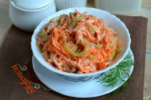 Рецепты салата с корейской морковью и огурцом,
