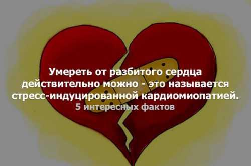 От разбитого сердца можно умереть