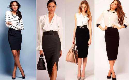 Модная классическая юбка
