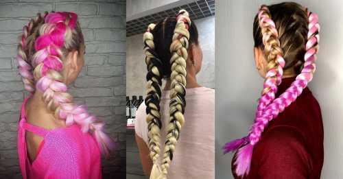Необычные косы: плетение канекалон покорило социальные сети фото
