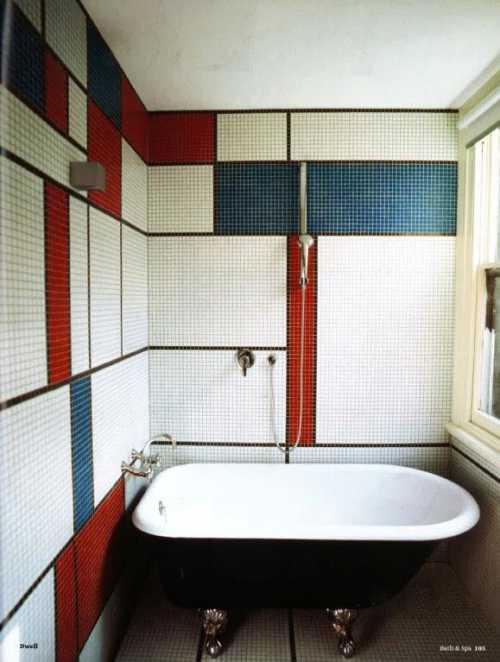 Ванная, вдохновленная Мондрианом