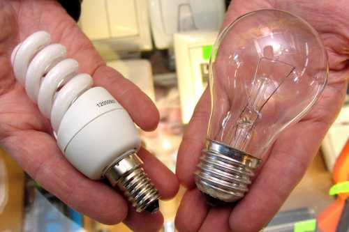Энергосберегающие лампочки могут вызвать